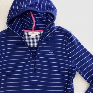 vineyard vines | striped half zip hoodie.